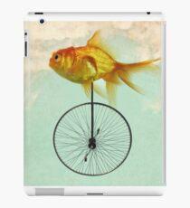 unicycle goldfish iPad Case/Skin