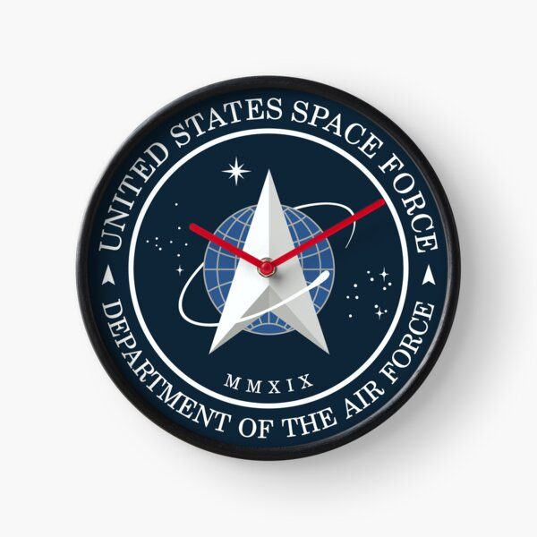 United States Space Force Official Seal - USSF Clock