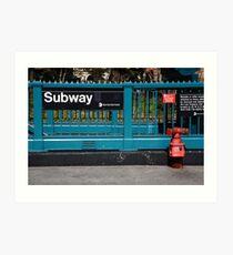 Lámina artística Metro de Nueva York