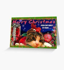 Christmas card kitty4 Greeting Card