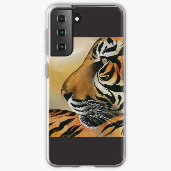 This image is from a painting I did of a tigers face. Samsung Galaxy Soft Case