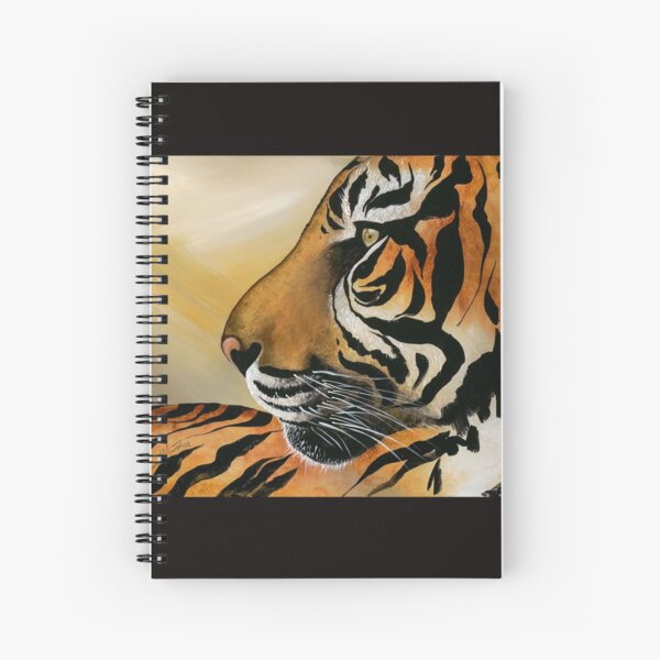 This image is from a painting I did of a tigers face. Spiral Notebook