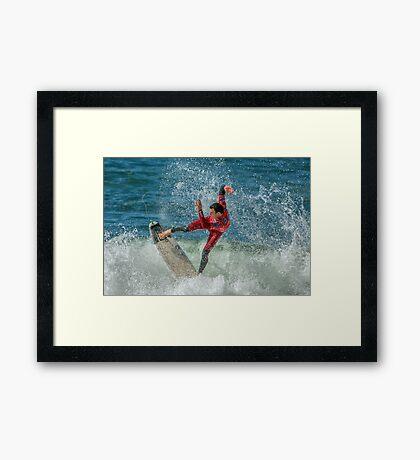 Joel Parkinson - Rip Curl Pro, Bells Beach 2013 Framed Print