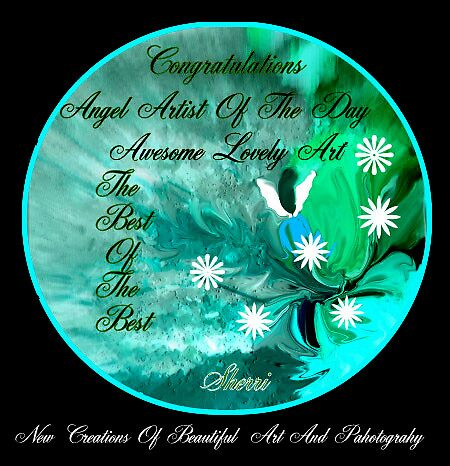 ANGEL ARTIST OF THE DAY BANNER by SherriOfPalmSprings Sherri Nicholas-