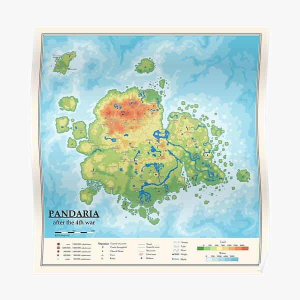 Detailed Pandaria map Poster