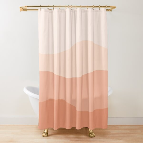 Peachy Ombre Dunes Shower Curtain