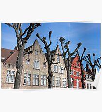 Typical Bruges Facades Poster