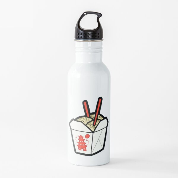 Take-Out Noodles Box Pattern Water Bottle