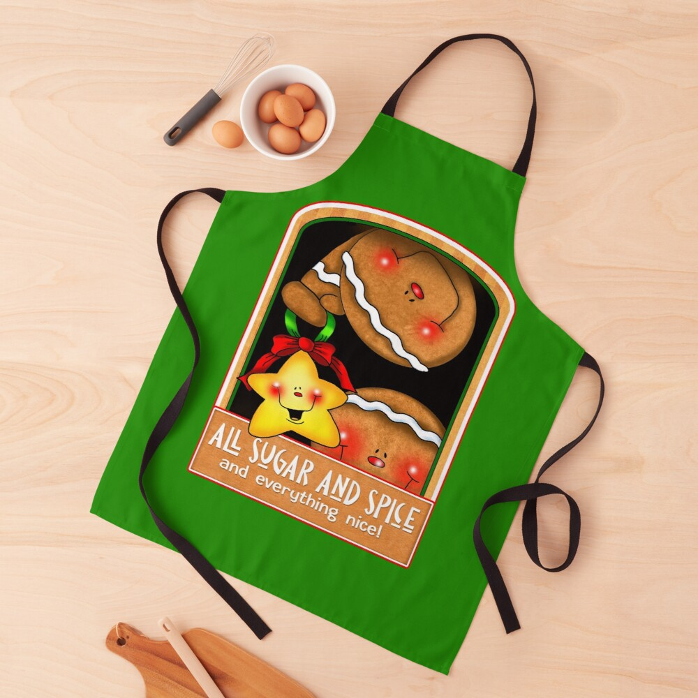 Holiday Gingerbread and Spice Apron
