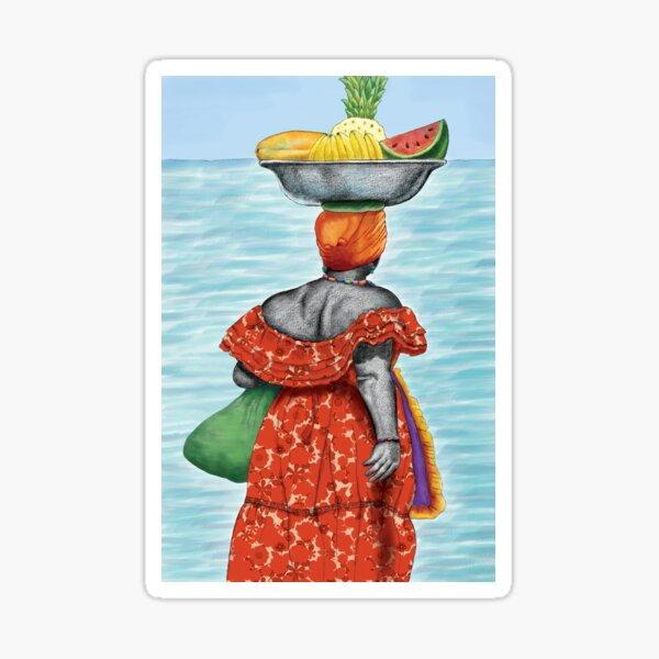 Mujer Caribe Pegatina