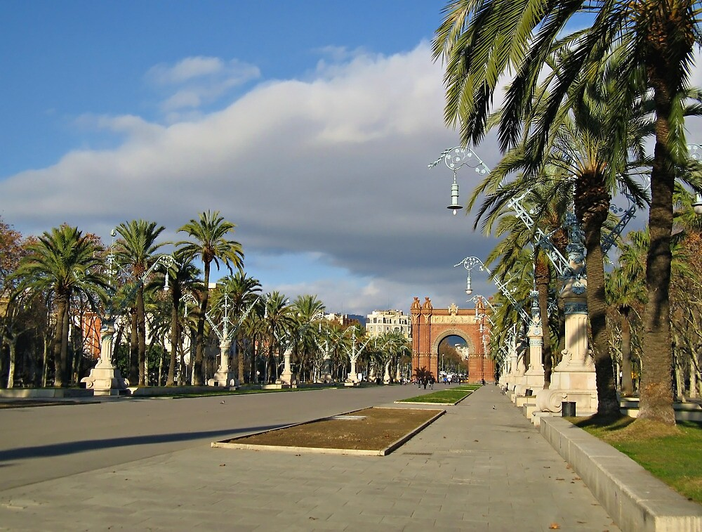 The Arc de Triomf in Barcelona by kirilart
