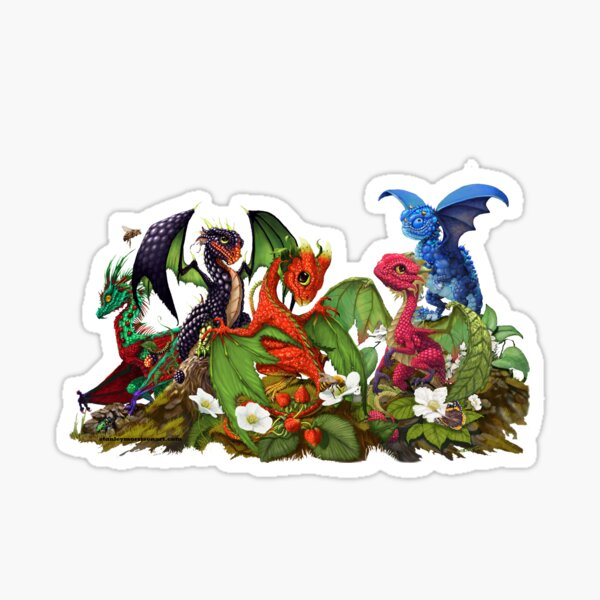 Mixed berry dragons  Sticker
