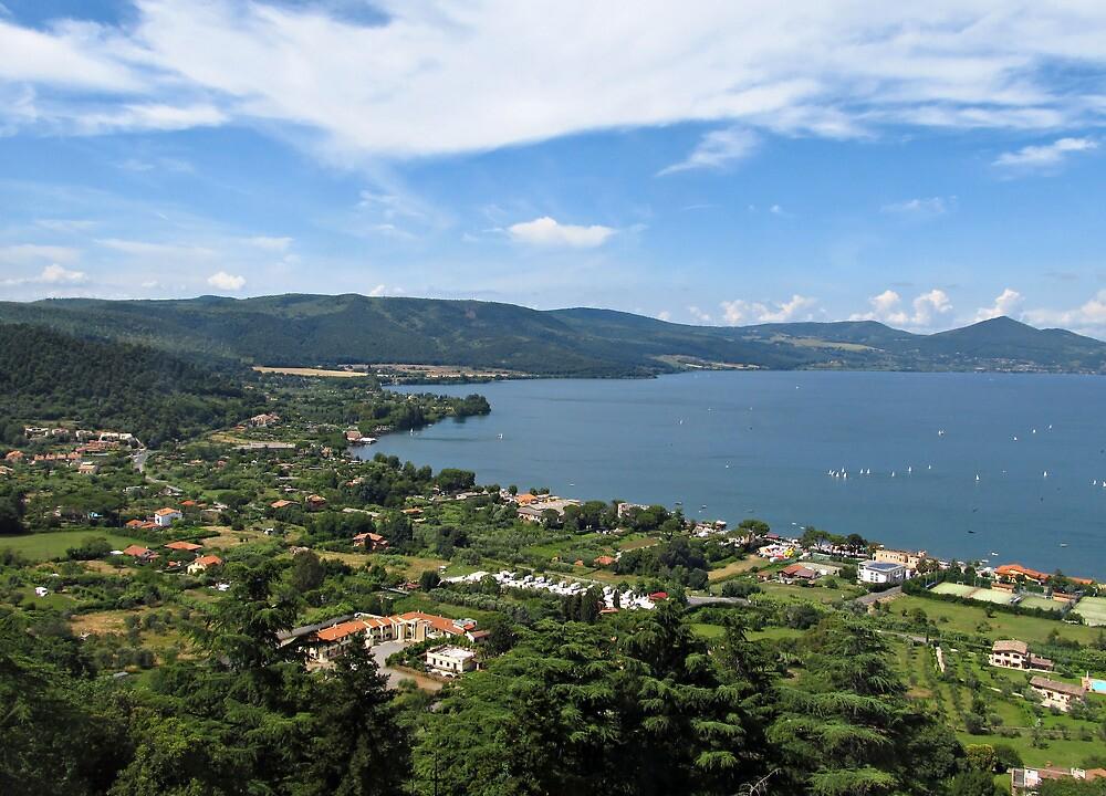Lake Bracciano panoramic view by kirilart