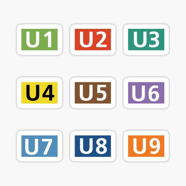 Berlin U-Bahn Line Symbols Sticker