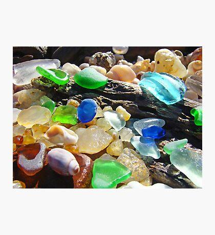 Seaglass Art Prints Coasta Beach Sea Glass Photographic Print
