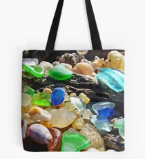 Seaglass Art Prints Coasta Beach Sea Glass Tote Bag