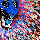 Tiger blue in the face with rage by George Hunter