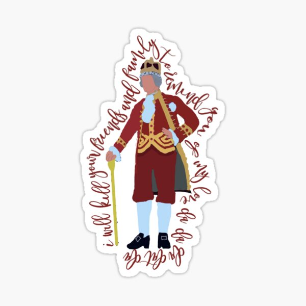 king george - hamilton Sticker