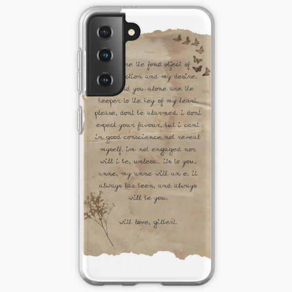 La carta de Gilbert a Anne Funda blanda para Samsung Galaxy