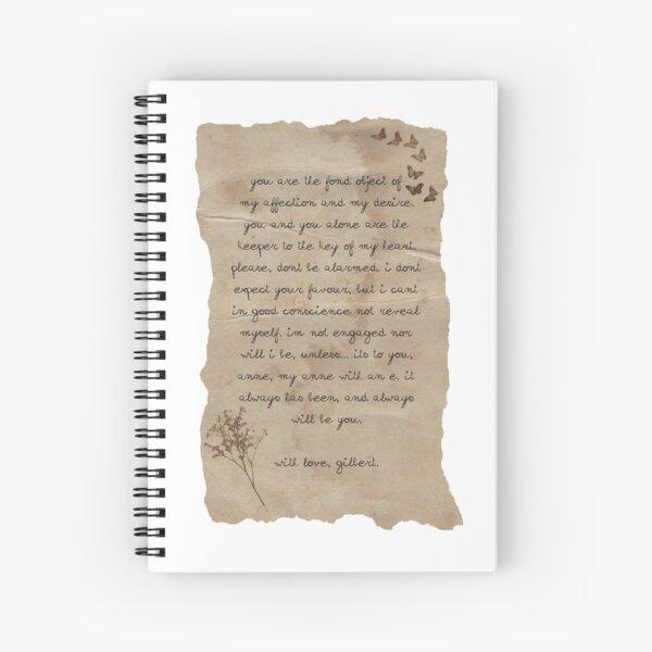 La carta de Gilbert a Anne Cuaderno de espiral