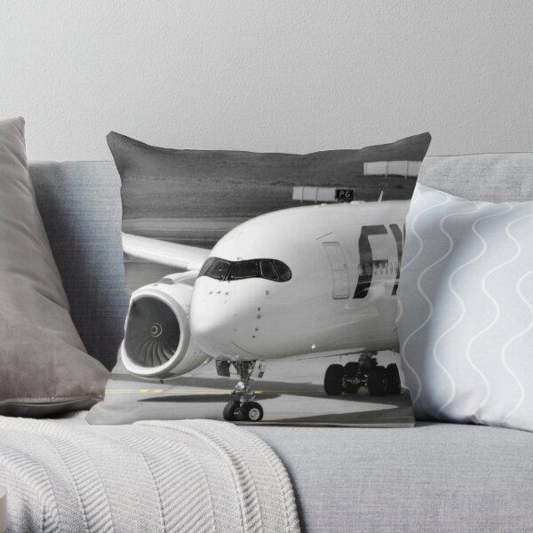 Taxiing A350 Throw Pillow