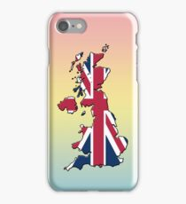 Smartphone Case - Cool Britannia - Blue Yellow Pink Background iPhone Case/Skin