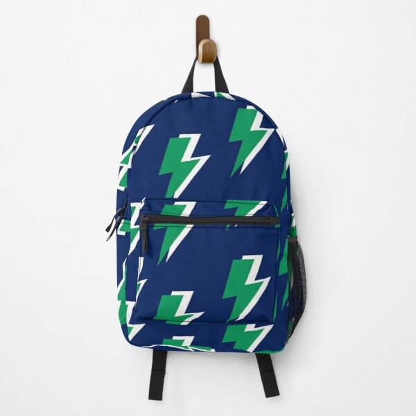 Green Lightning on Blue Background  Backpack