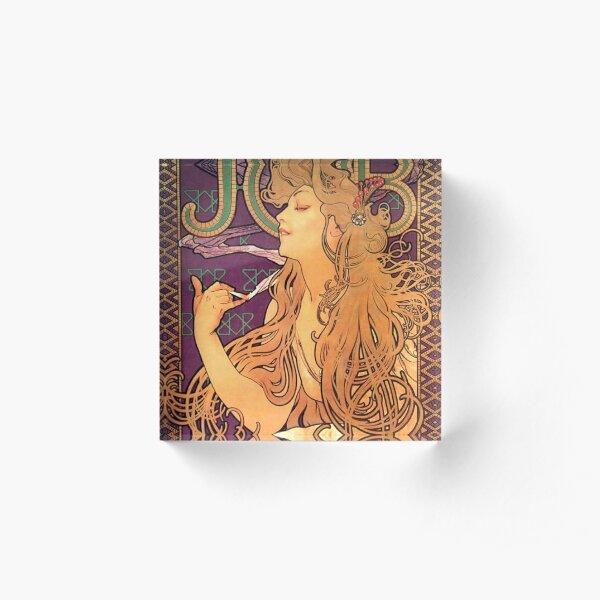 Job,Alphonse Mucha,art nouveau,litography Acrylic Block
