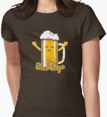 Beer Hugs Women's Fitted T-Shirt