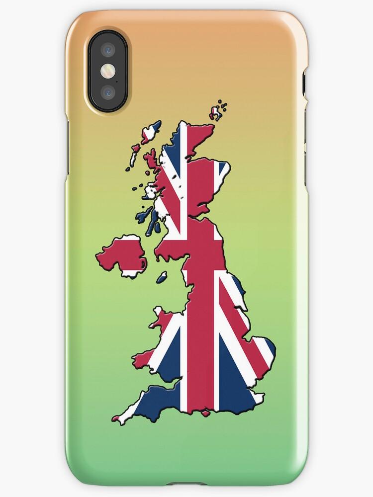 Smartphone Case - Cool Britannia - Green Yellow Orange Background by Mark Podger