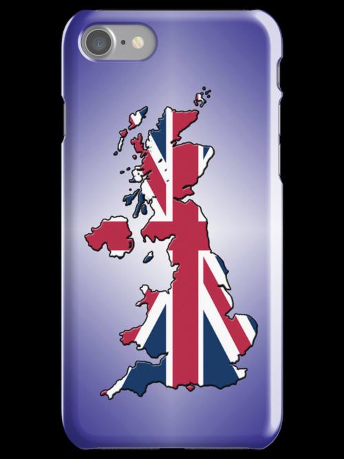 Smartphone Case - Cool Britannia - Purple Diamond Background by Mark Podger