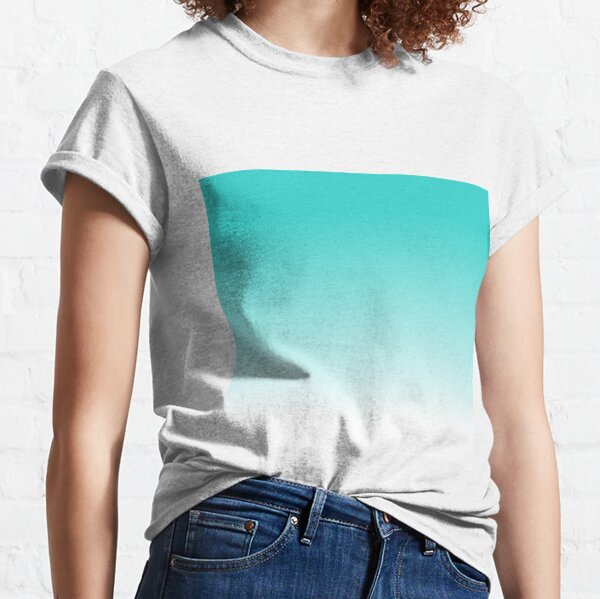 Robin's Egg Blue  Ombre Fading Gradient Classic T-Shirt