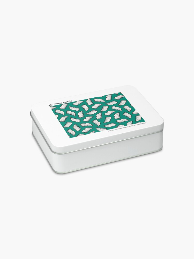 Alternate view of Bookish Reading Pattern in Jade Jigsaw Puzzle