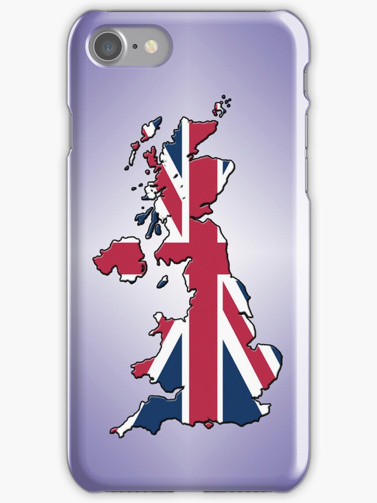 Smartphone Case - Cool Britannia - Light Purple Diamond Background by Mark Podger