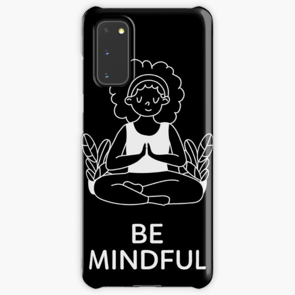 Be Mindful (White) Samsung Galaxy Snap Case