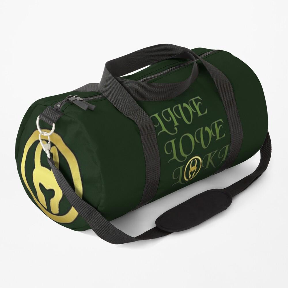 Live, Love, Loki Duffle Bag