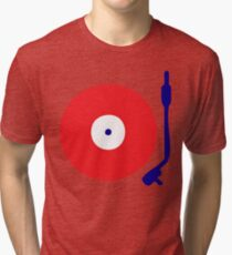 Red White Blue Turntable Tri-blend T-Shirt