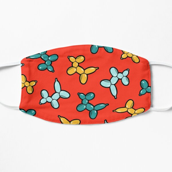 Balloon Animal Dogs Pattern in Red Mask