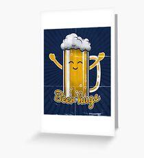 Beer Hugs Greeting Card