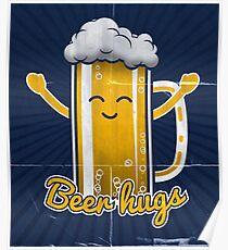 Póster Abrazos de cerveza