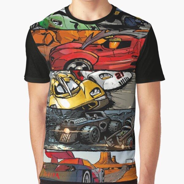 Carmageddon Comic Panels Graphic T-Shirt
