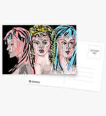 Artemis, Aphrodite & Athena Postcards