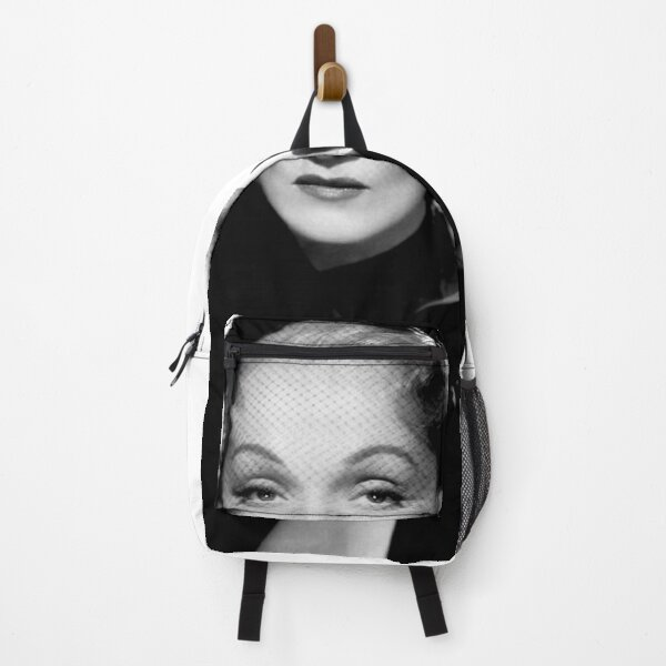 Hollywood Movie Star Marlene Dietrich On Shirts Bags And Home Decor Backpack
