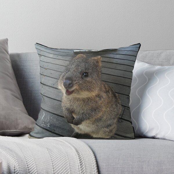 Be Quokka happy Throw Pillow
