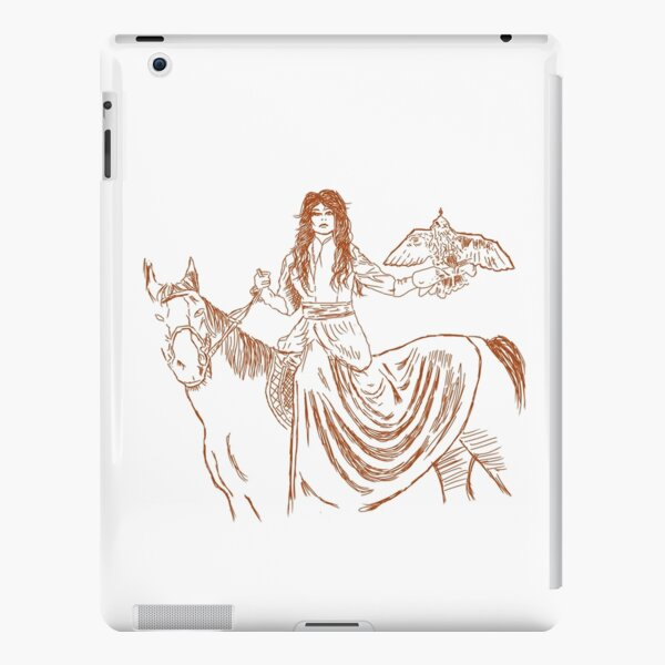 Falcon trainer horse woman iPad Snap Case