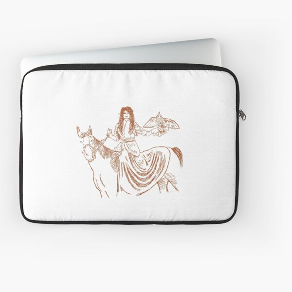 Falcon trainer horse woman Laptop Sleeve
