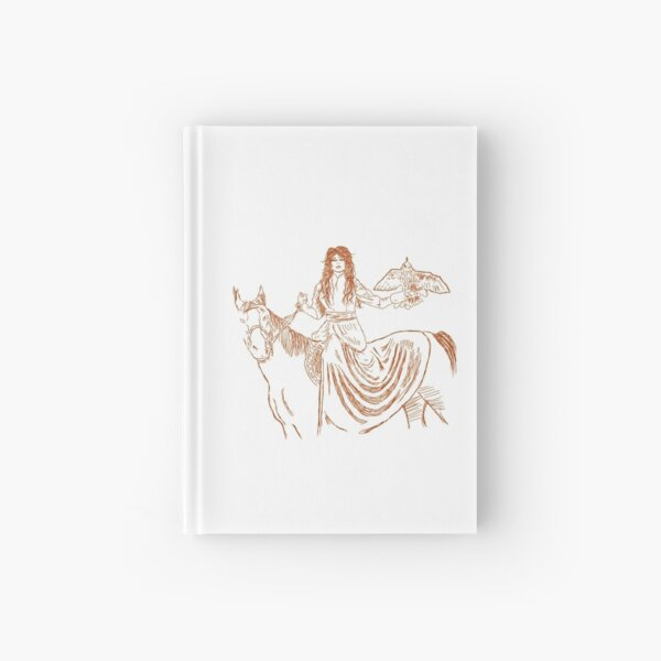 Falcon trainer horse woman Hardcover Journal