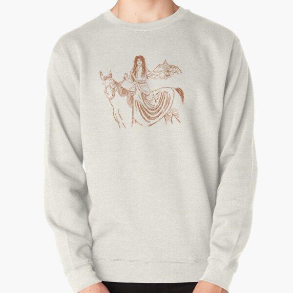 Falcon trainer horse woman Pullover Sweatshirt