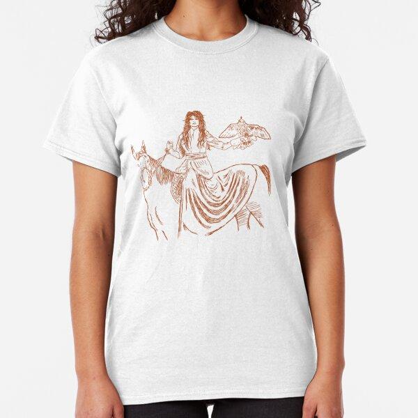 Falcon trainer horse woman Classic T-Shirt