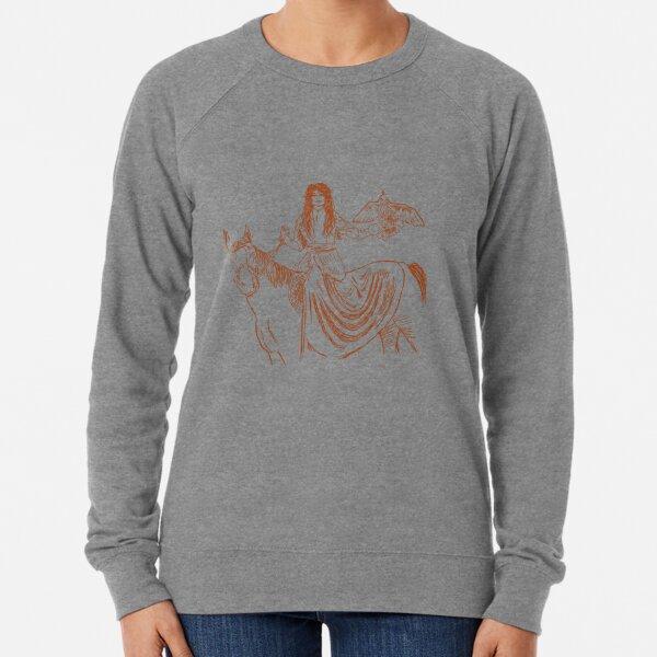 Falcon trainer horse woman Lightweight Sweatshirt